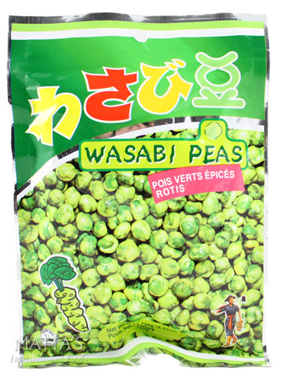 how to make wasabi peas